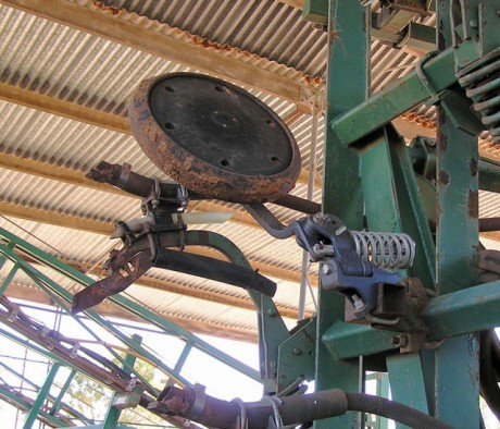Tine and press wheel assembly